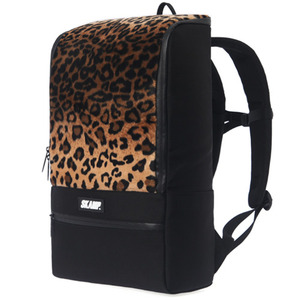 [SKAMP] Leopard H Backpack (Brown)